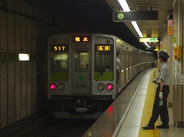 都営新宿線小川町駅3番線 都営10-250F各停橋本行き前方確認