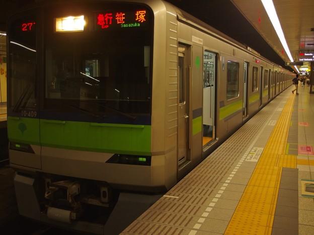 都営新宿線馬喰横山駅1番線 都営10-400F急行笹塚行き
