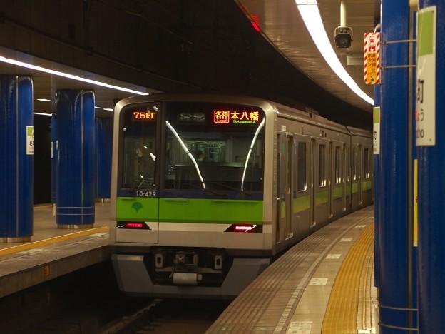 都営新宿線岩本町駅3番線 都営10-420F各停本八幡行き前方確認