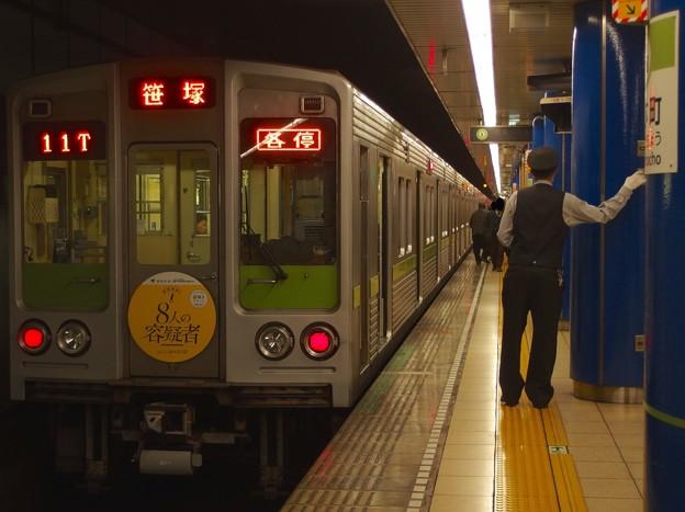 都営新宿線岩本町駅1番線 都営10-240F各停笹塚行きベル扱い