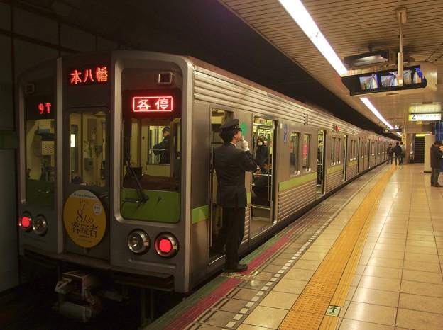 都営新宿線岩本町駅4番線 都営10-240F各停本八幡行き笛扱い