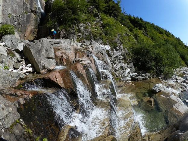 大滝直下の石段 8.12 8:41