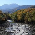 石抱橋から越後駒ケ岳を望む