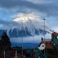 写真: 夕方の富士