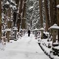 写真: 雪の奥の院