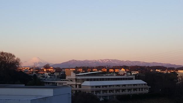 写真: 今朝の富士山