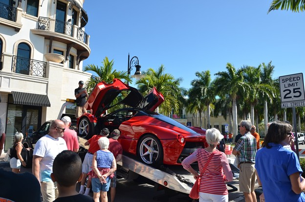 Photos: Flying Ferrari with Butterfly Doors 2-11-17