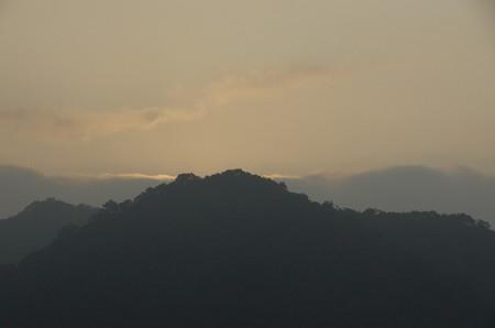故郷の初秋の朝景色