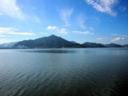 残暑の児島湖遠望