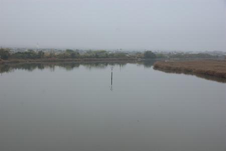 朝霧の倉敷川
