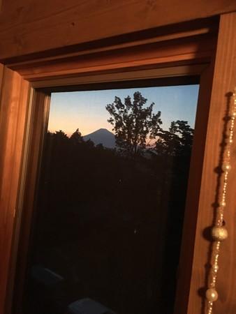 サロンからの富士山いえーい!