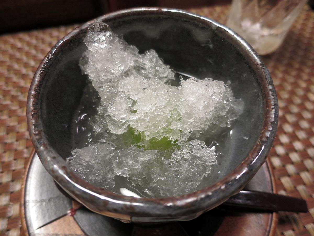 梅のかき氷