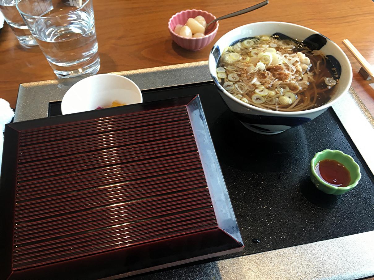 蕎麦と天丼セット