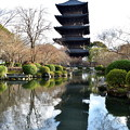 Photos: 2017_0123_155300 東寺 瓢箪池と五重塔