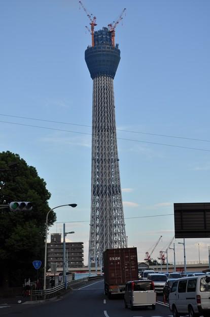 東京スカイツリー408m@言問橋の浅草側から_DSC_1547