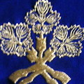 The family crest indicated on Wikipedia is a branch family's crest. This is originator's royal cr...