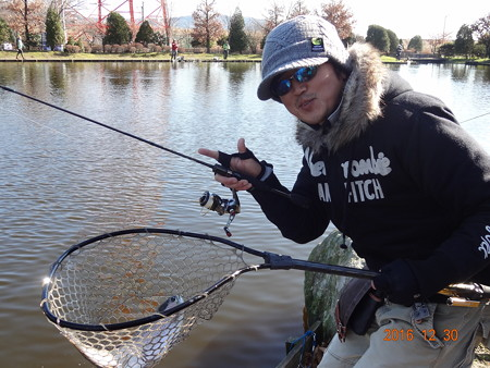 開成水辺フォレストスプリングスで釣り納め?
