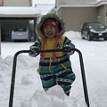 写真: 雪遊び