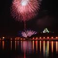 写真: ☆夜空と川面の饗宴