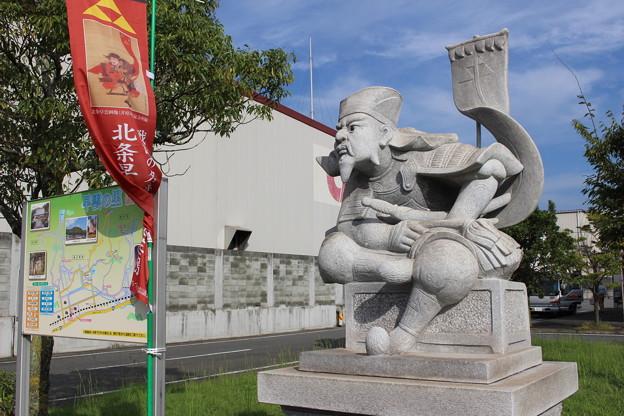早雲の里荏原駅前の早雲像 #岡山の旅2016