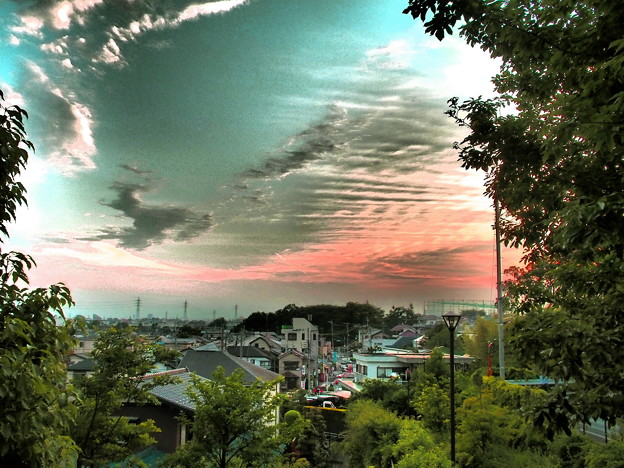 風の丘 初夏の夕景