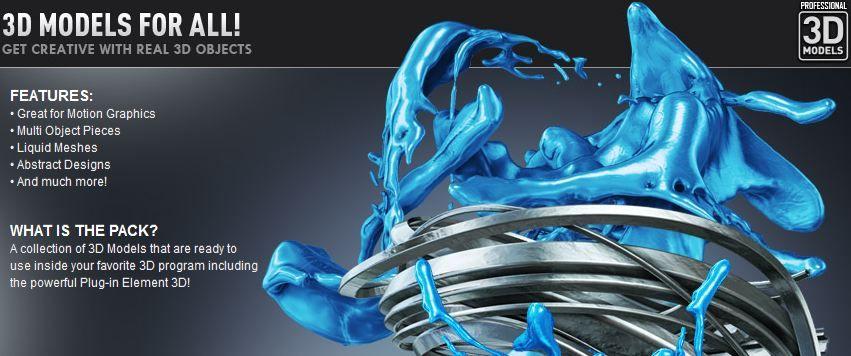 Element3D抽象类模型 -videocopilot-Motion Design 3D