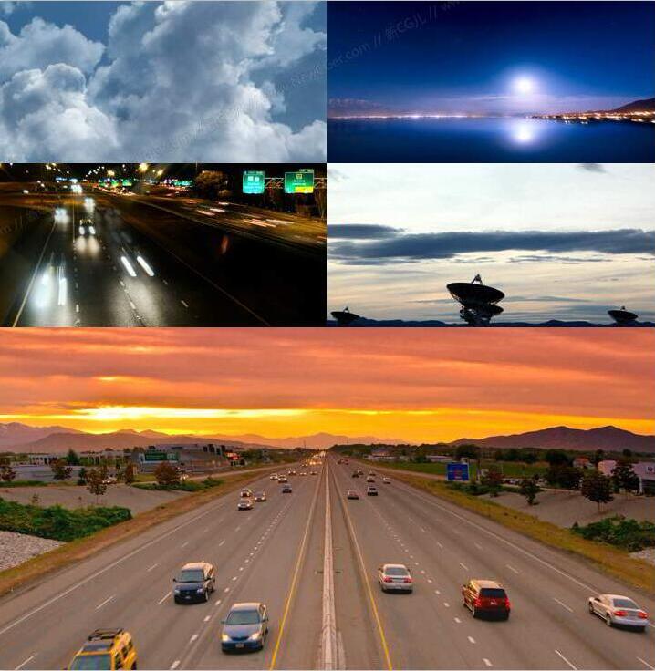 美丽的延时景观摄影视频素材