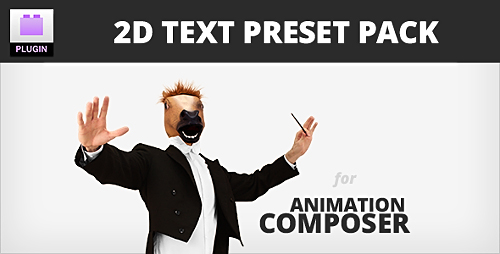 AE文字动画插件及预设包MG神器Videohive 2D Text Preset Pack for Animation Composer Plug-in