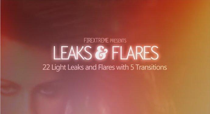 高清视频素材:27组唯美光斑眩光婚礼转场素材(Videohive Leaks & Flares Motion Graphics)