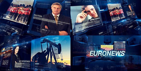 AE模版-广播电视新闻栏目包装VideoHive TV Broadcast News Packages