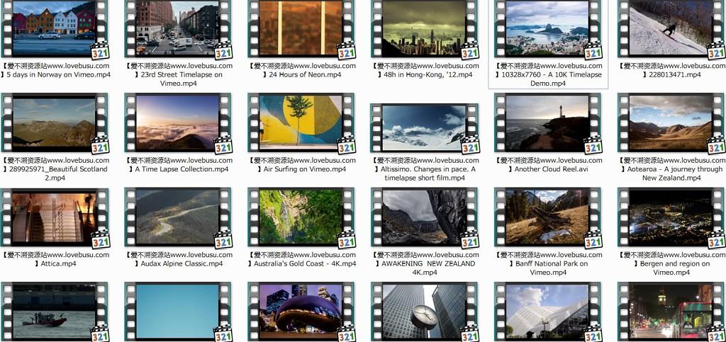 227个高清延时摄影作品合辑