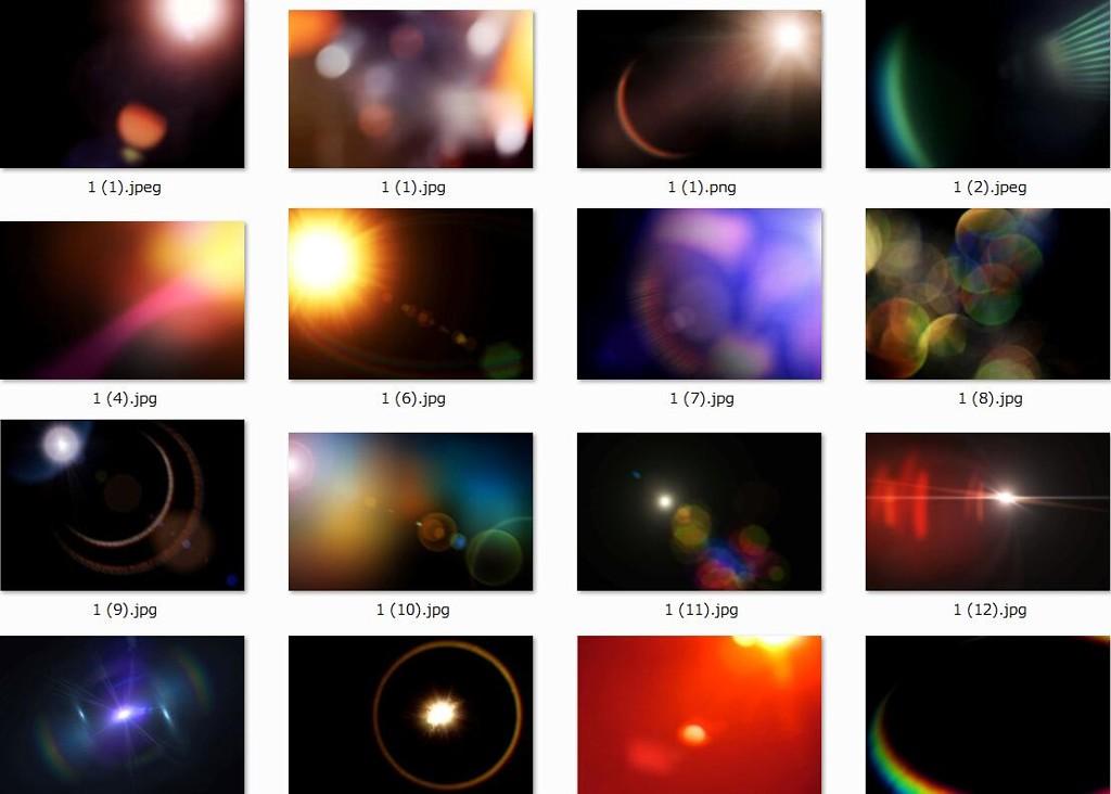 30张耀斑炫光图片素材(30 Lens Flare Overlays)