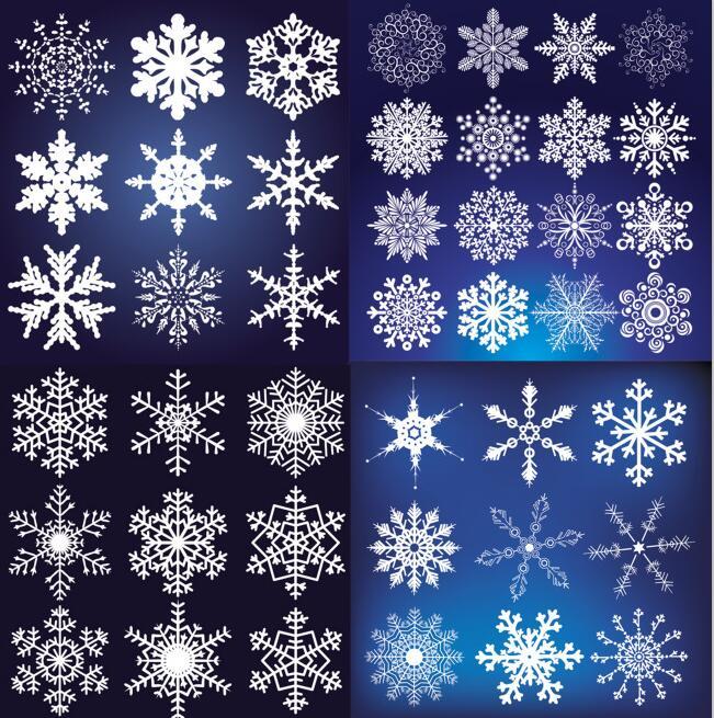 雪花矢量素材(snow vectors)