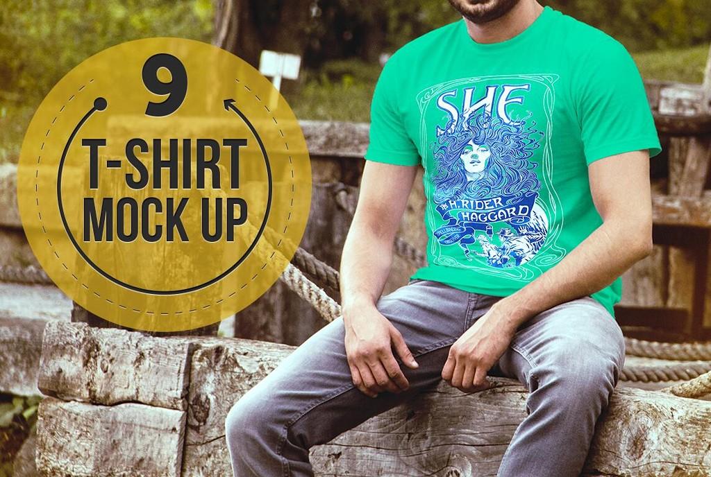 T恤PSD素材(t-shirt mockup)