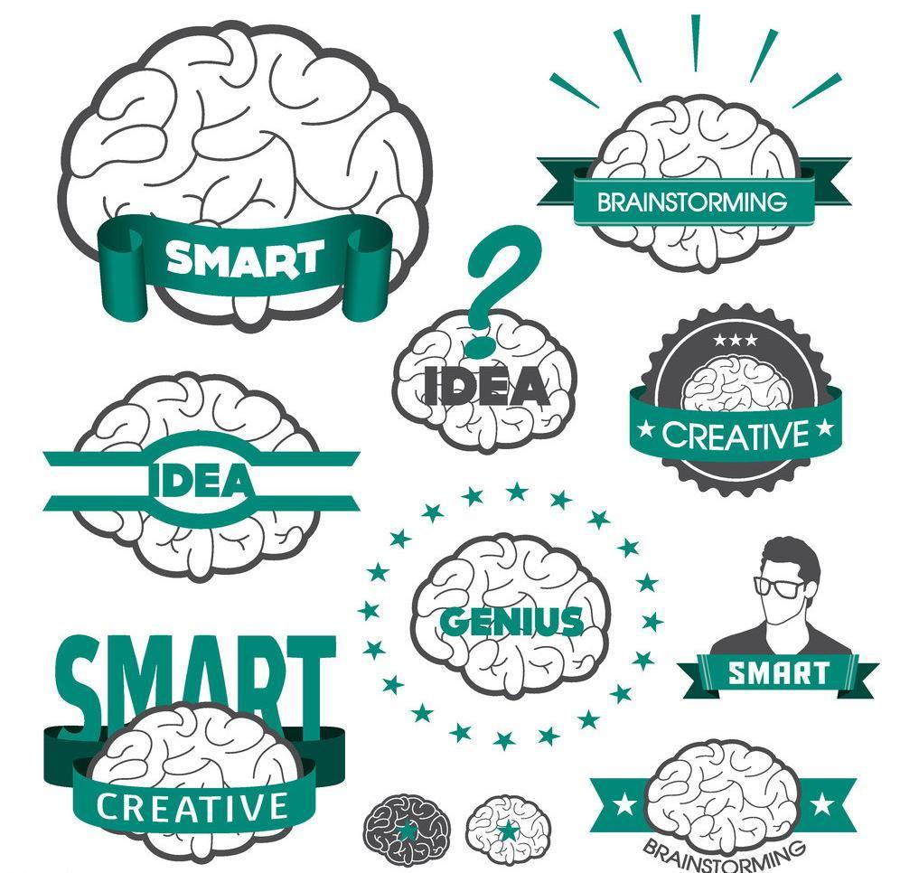创意大脑矢量素材