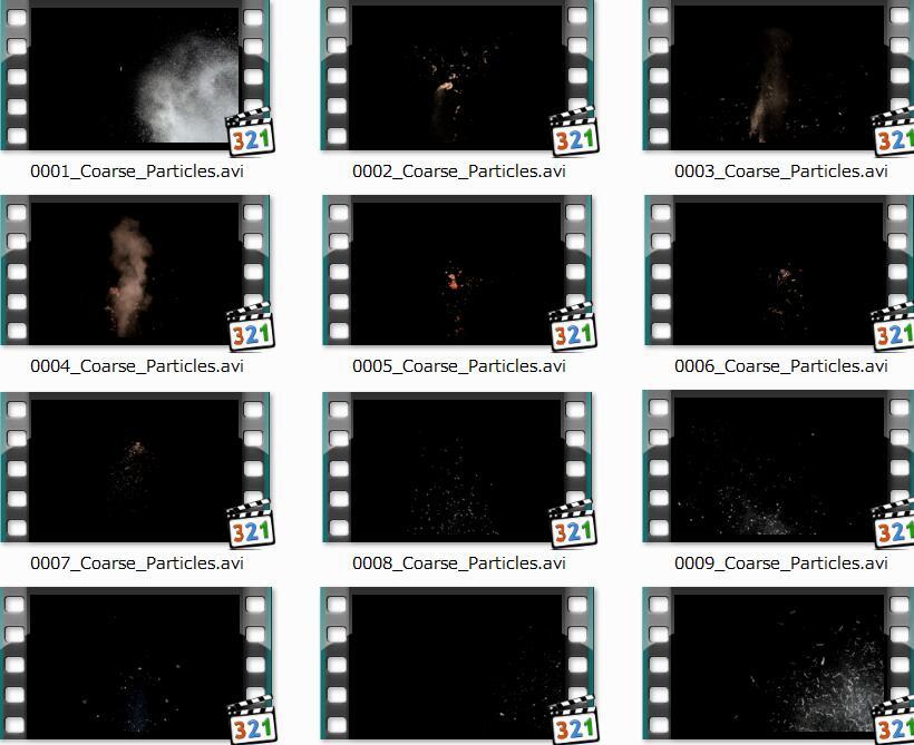 爆炸小元素视频素材
