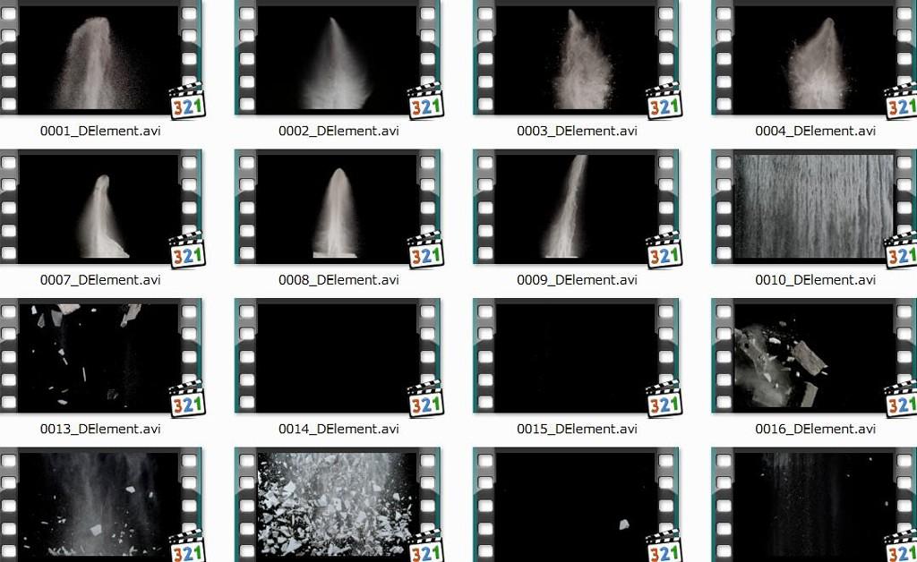 砂石水泥石膏爆炸视频素材