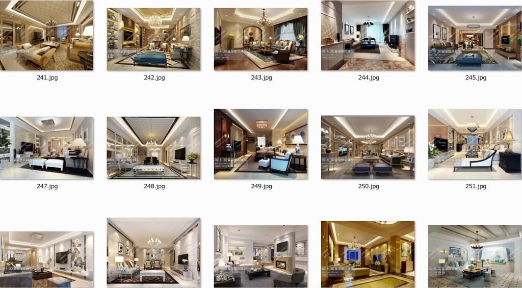 2014整体室内设计3D模型
