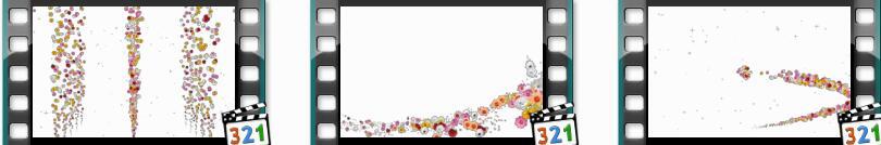 带通道的粒子花海视频素材(Flower serpentine)