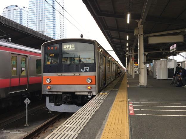 205系 千ケヨM22編成 海浜幕張駅