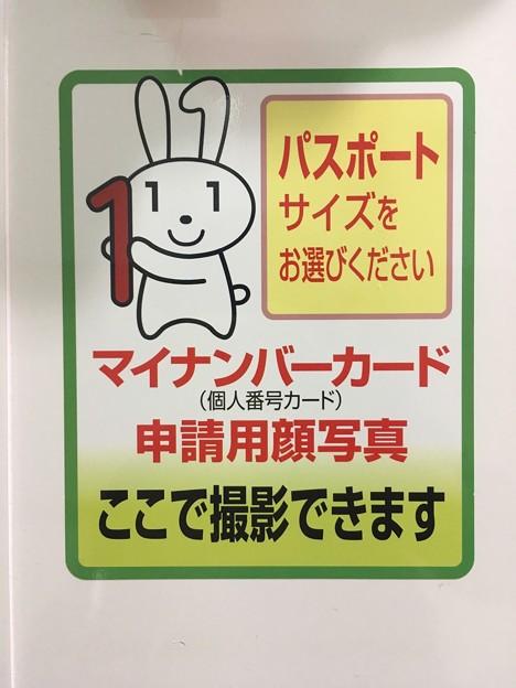 マイナちゃん マイナンバーカード申請用顔写真 ここで撮影できます