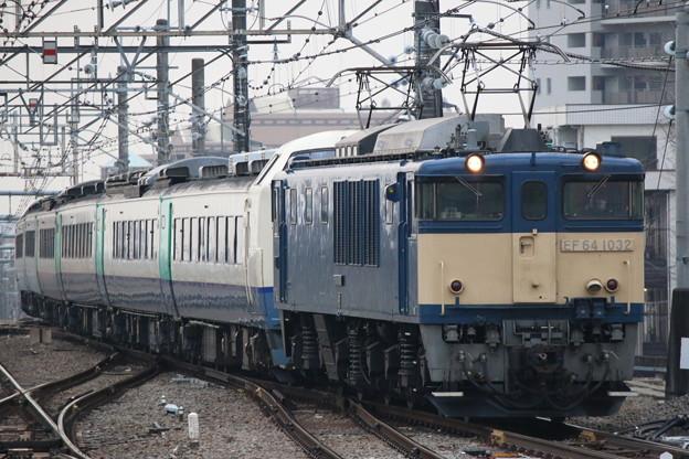 EF64 1032+485系3000番台 R26編成 配給回送