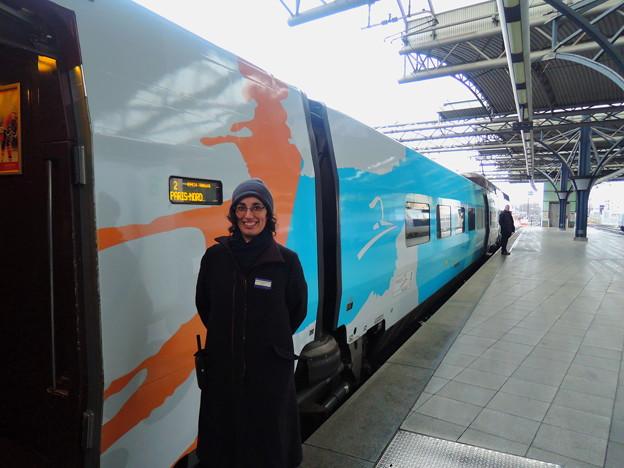 ブリュッセル南駅にて