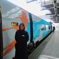 写真: ブリュッセル南駅にて