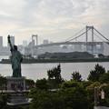 Photos: 自由の女神とレインボーブリッジ