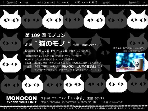 第109回モノコン「猫のモノ」週末開催です!