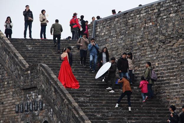 赤いドレス