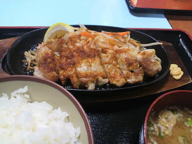 香芝SAで夕飯、トンテキ!