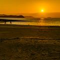 写真: パールサンビーチの夕陽