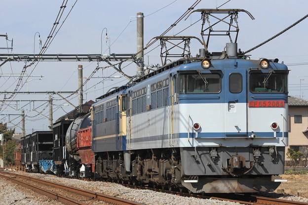 配6794レ EF65 2084+EF65 2139+ホキ+タキ+ホキ+コキ+ホキ+トキ